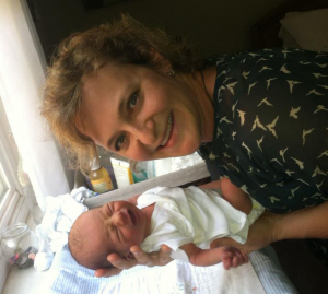 Jennifer Kinnear with Baby
